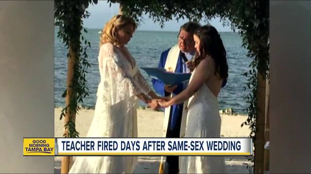 Jocelyn Morfii married the love of her life- and was fired by the Catholic school where she taught