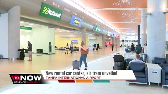 New Rental Car Center SkyConnect Air Tram Unveiled At Tampa - International car center