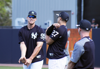 Judge, Stanton and the Yankees report to Tampa