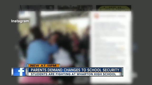 Parents demand changes to school security after numerous fights at…