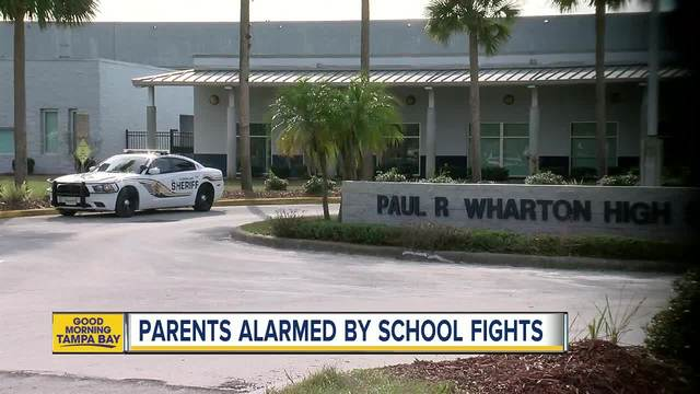 Wharton High School holds parent meeting to address school fights and…