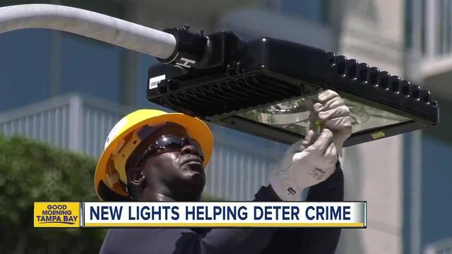 Tampa neighborhoods now getting brighter LED streetlights to make streets safer