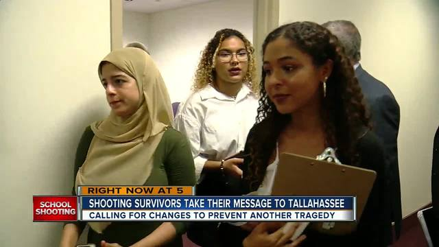 Shooting survivors take their message to Tallahassee