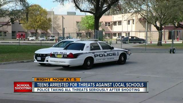 Two Tampa students arrested- charged with making false threats against schools