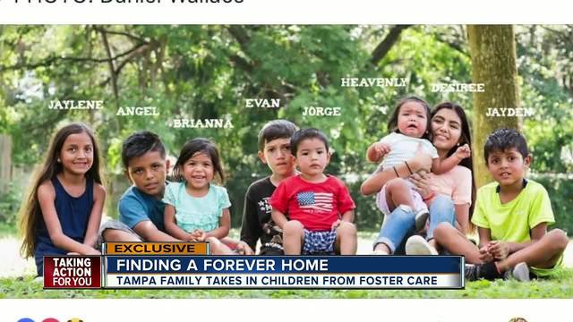 Tampa family adopts 9 children to keep siblings together