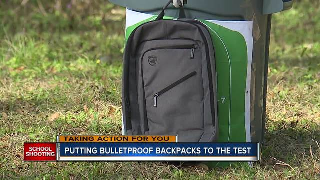 EXCLUSIVE- Testing out the sold out bulletproof backpacks made in Florida