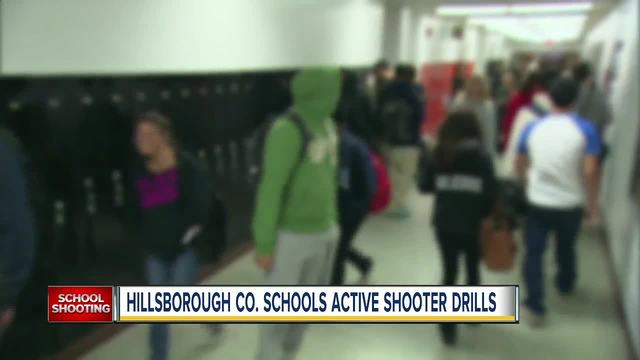 Hillsborough County schools will have active shooter drills this week