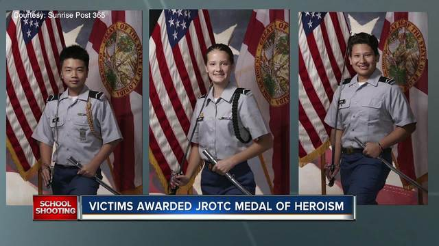 Three students killed in Florida school shooting awarded Medal of…