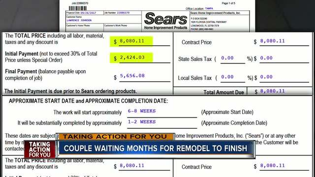 Couple Takes On Sears In An Effort To Get Bathroom Remodel They Paid Interesting Bathroom Remodel Contract