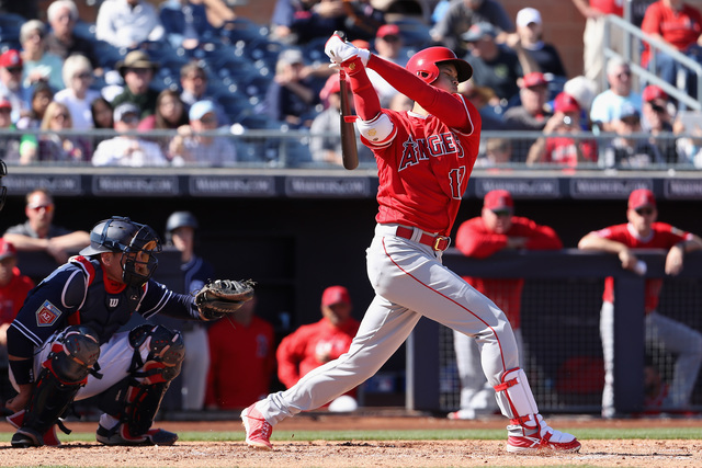 Angels rookie Shohei Ohtani tallies two walks, RBI in DH debut
