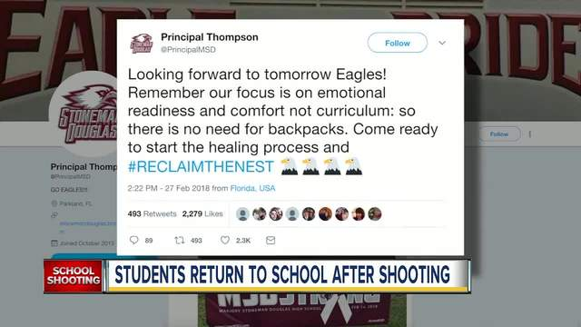Stoneman Douglas High students wary on return to class two weeks after…
