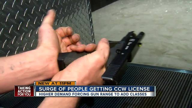 Firearms training surges in Tampa Bay after Parkland school shooting