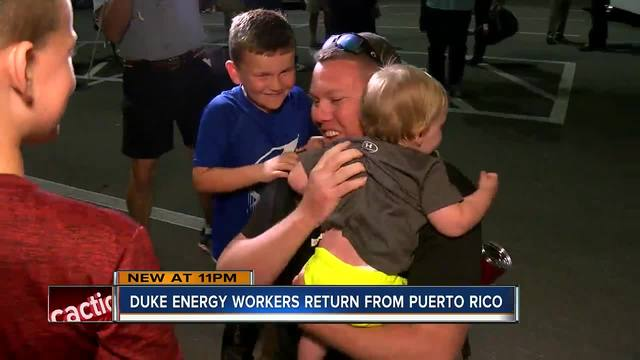 Puerto Ricans cheer as OG&E crews turn on the power