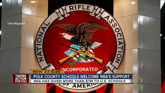 Money donated to Polk County schools by the NRA garnering mixed reactions