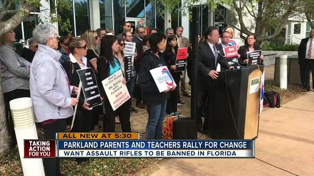 Parkland parents in St- Pete fighting to get assault weapon ban on ballot