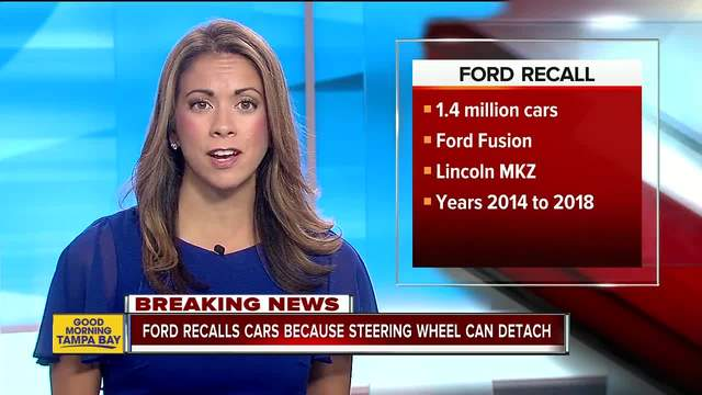 Ford recalls almost  1.4M cars, says steering wheels can detach