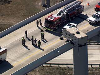 Camper removed after hanging over I-275 overpass