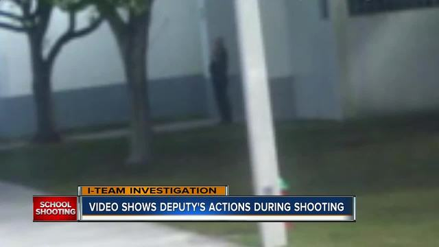 Deputy stayed outside during Parkland school shooting, surveillance video shows