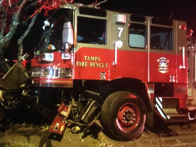 tampa fire truck involved in crash wfts tv
