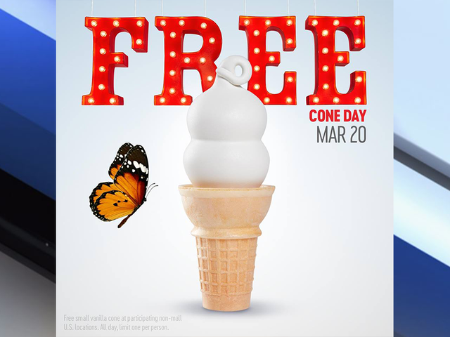 Dairy Queen to give away free ice cream cones