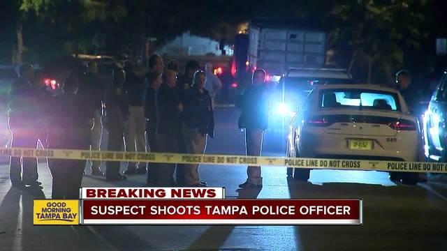 Tampa officer shot while serving arrest warrant, police say