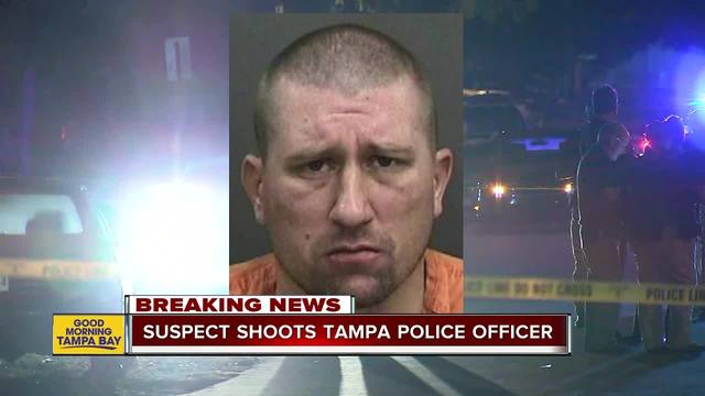 Tampa Police officer shot multiple times while serving warrant, suspect in custody