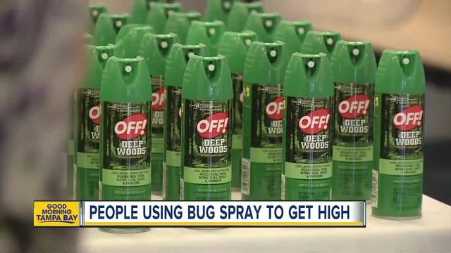 People are using heavy duty bug sprays to get high and it is really dangerous