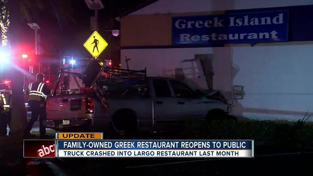 Largo restaurant forced to rebuild after truck slams into building