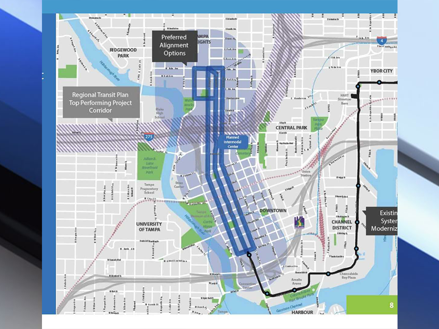 City of Tampas plans to expand the Streetcar system to fix downtown
