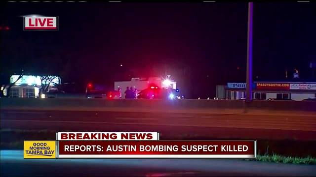 Austin serial bombing suspect dead- reports say
