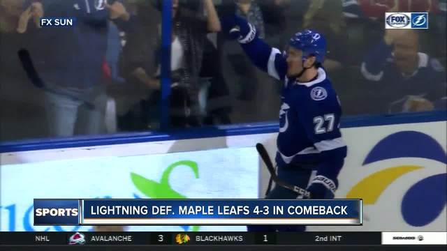 Tampa Bay Lightning erase 3-goal deficit- rally past Toronto Maple Leafs 4-3
