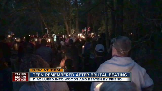 Candlelight vigil for teen beaten to death with baseball bat ends in the…