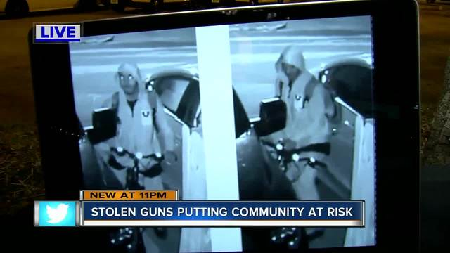 St- Pete Police search for thief who is seen on video stealing gun from truck