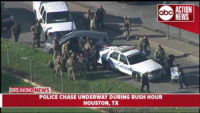 Man leads police on unusual slow-speed chase through Houston