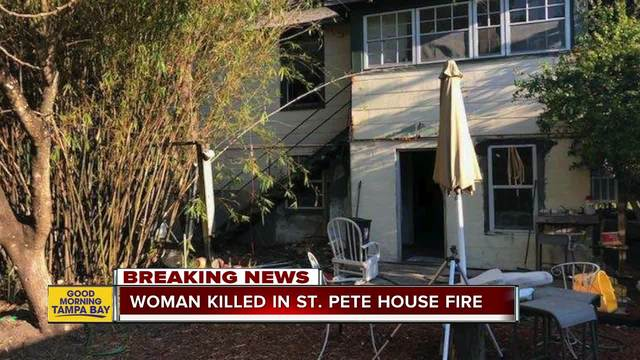 One dead in St- Pete house fire- officials investigating