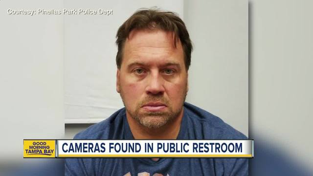 Police- Maintenance worker placed hidden cameras above ceiling tiles in…