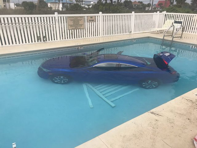 Florida Woman Fails To Put Car In Park, Vehicle Rolls Into Swimming Pool  With Husband, Child Inside   Abcactionnews.com WFTS TV
