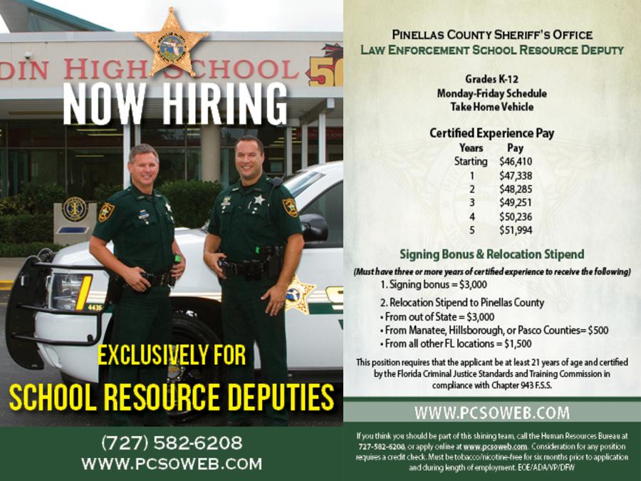 Pinellas County Sheriff's Office hiring school resource deputies -  abcactionnews.com WFTS-TV