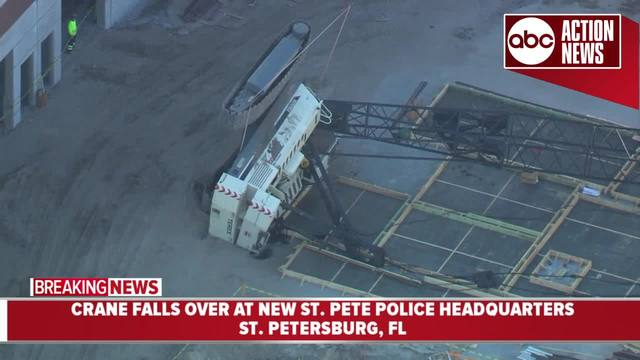 Workers scramble as crane topples at SPPD construction site