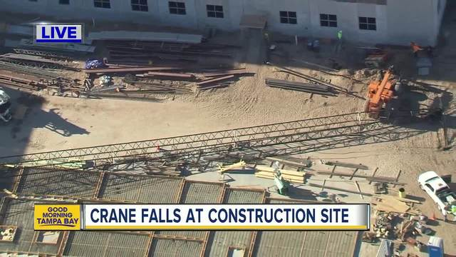 Caught on Camera: Crane Collapses at Site of New Police Headquarters