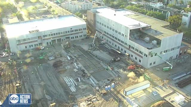 Crane Falls at New St. Pete Police Headquarters