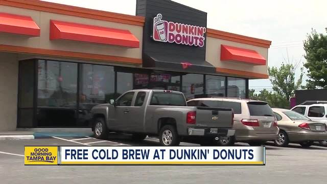 Get FREE cold brew coffee at Dunkin' Donuts today