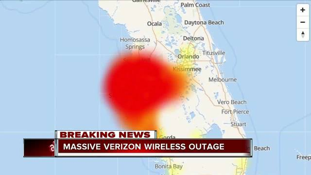 Verizon: Service restored after large outage