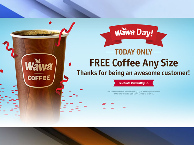 Wawa gives away free cups of coffee for Wawa Day celebration
