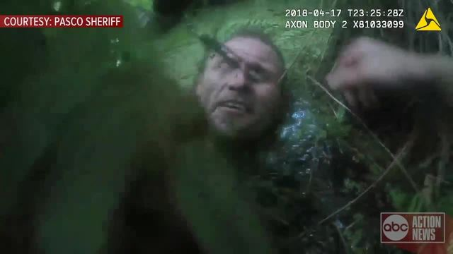 Pasco battery suspect hid from deputies 'entirely submerged in mud' before arrest