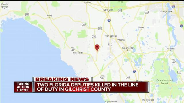Florida deputies fatally shot in Gilchrist County