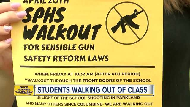 U.S.  students seeking gun reform walk out of classes