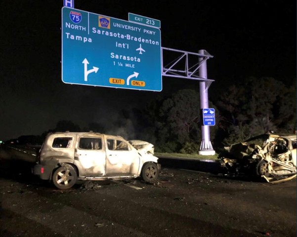 Crash closes Interstate 75 near University Parkway