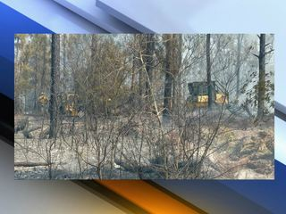 Homes evacuated due to brush fire in Sebring