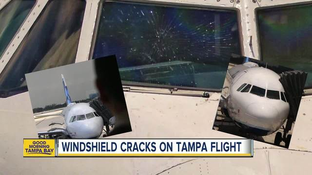 JetBlue plane windshield shatters on way to Tampa, Florida